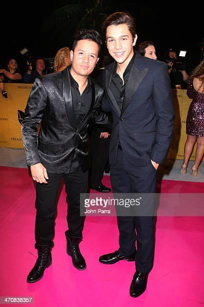 Fito Blanko and Austin Mahone attends Premio Lo Nuestro a la Musica Latina 2014 at American Airlines Arena on February 20 2014 in Miami Florida