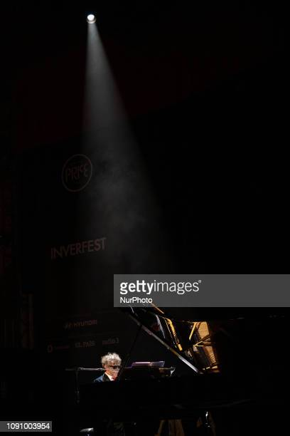 Fito Pez one of the great Argentine popular rock music artists performs at Circo Price In Madrid Spain on 29 January 2019 with his solo piano tour a...