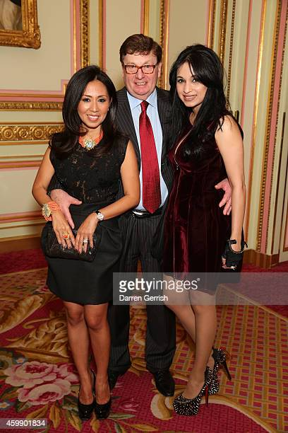 Fitri Hay James Hay and Sheetal Mafatlal attends the Fitriani Massimo Izzo reception at The Ritz on December 3 2014 in London England