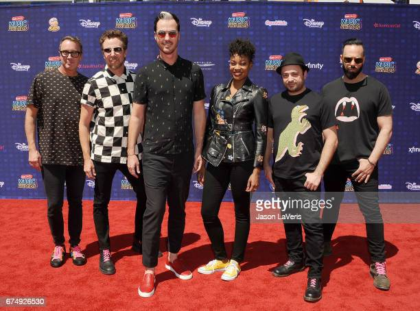 Fitz and The Tantrums attend the 2017 Radio Disney Music Awards at Microsoft Theater on April 29 2017 in Los Angeles California