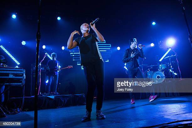 Fitz and The Tantrums performs in concert at Egyptian Room at Old National Centre on November 16 2013 in Indianapolis Indiana