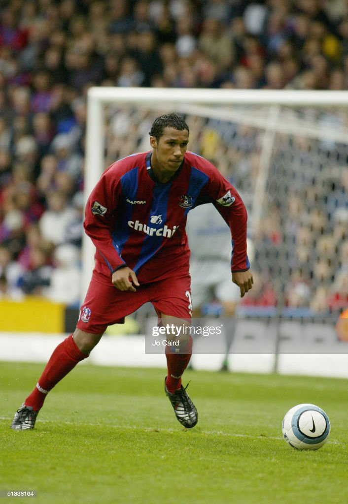 Fitz Hall of Crystal Palace of in action during the Barclays Premiership match between Crystal Palace and Manchester City at Selhurst Park on September 18, 2004 in London, England.