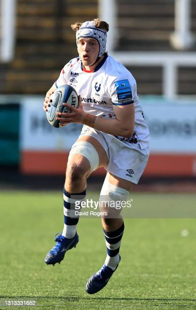 Fitz Harding of Bristol Bears runs with the ball during the Gallagher Premiership Rugby match between Newcastle Falcons and Bristol Bears at Kingston...