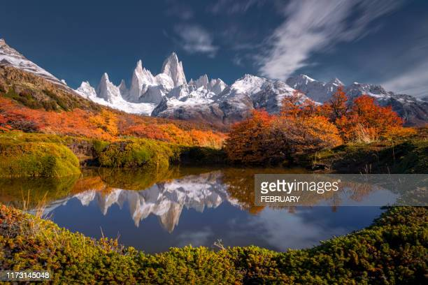 fitz roy, argentina. - argentina stock pictures, royalty-free photos & images