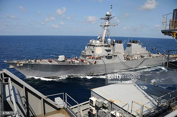 USS Fitzgerald during a replenishment at sea.