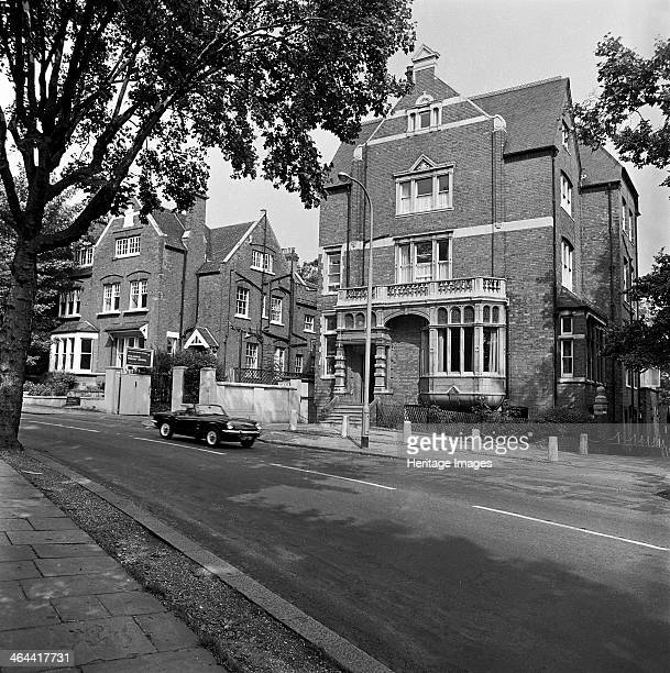 84 Fitzjohns Avenue Hampstead London 19671973 A view looking across Fitzjohns Avenue towards number 84 and 86 the entrance lodge to Fitzjohns Primary...