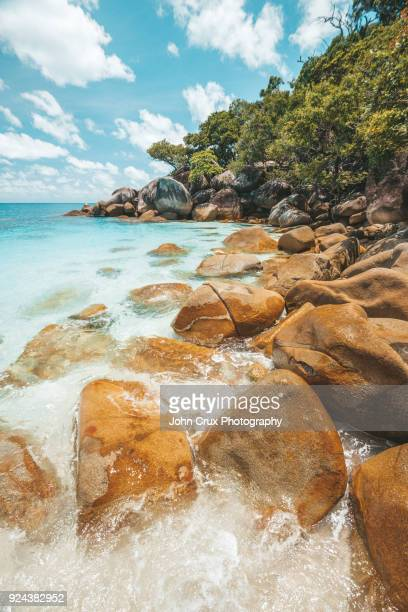 fitzroy island beach cairns - international landmark stock pictures, royalty-free photos & images