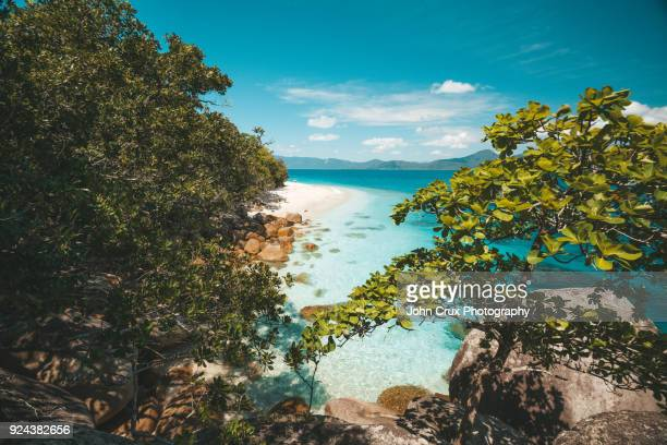 fitzroy island beach - international landmark stock pictures, royalty-free photos & images