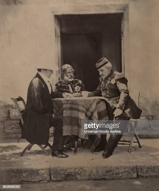 FitzRoy James Henry Somerset 1st Baron Raglan Omar Pacha and AimableJeanJacques Pelisseier Council of War at Lord Raglan's Headquarters after...