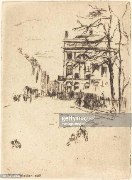 Fitzroy Square. Artist James Abbott McNeill Whistler.