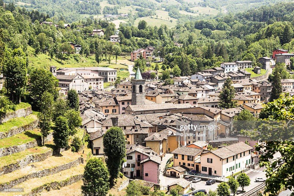Fiumalbo village near the city of Modena in Italy : Stock Photo