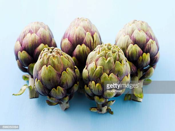Five artichokes