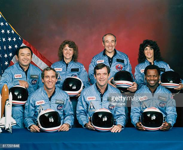 Five astronauts and two payload specialists make up the STS 51L crew scheduled to fly aboard the Space Shuttle Challenger in January of 1986...