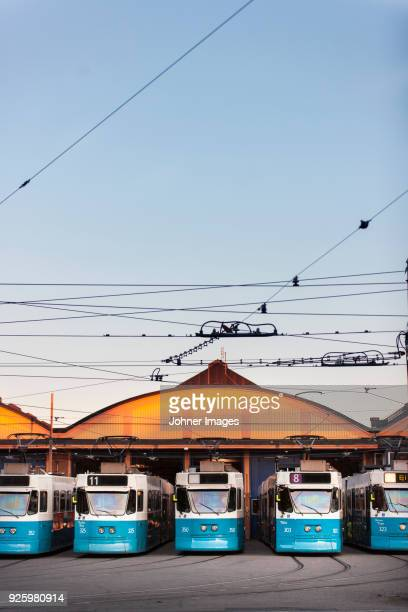 five blue trams - cable car stock pictures, royalty-free photos & images