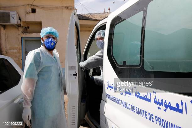 Five confirmed cases of corona virus in Algeria are quarantined at the hospital in Boufarik, wilaya of Blida in Algeria, on March 3, 2020.
