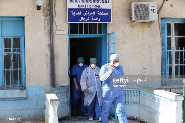 Five confirmed cases of corona virus in Algeria are quarantined at the hospital in Boufarik, wilaya of Blida in Algeria, on March 3, 2020.