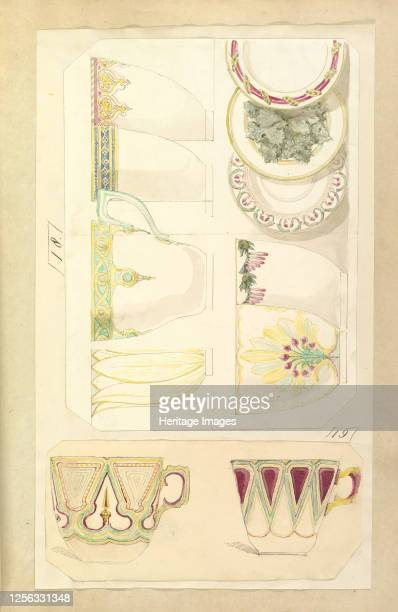 Five Designs for Decorated Cups and Three Designs for Saucers 184555 Artist Alfred Crowquill
