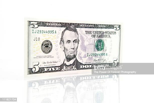 US Five Dollar Bill