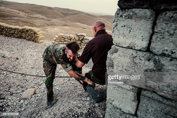 Five European voluntary soldiers joined PAK Peshmerga troups in Kurdistan, Northern Irak to fight against Daesh because they think it's a war the...
