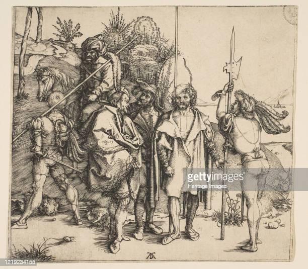 Five Foot Soldiers and a Mounted Turk, circa 1495. Artist Albrecht Durer.