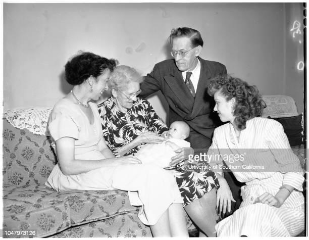 Five generations, April 29, 1951. Mrs Blanche Tipton -- 40 years;Mrs Sarah Robinson -- 84 years;Deborah Ann Kite -- 2 months;Leroy Robinson -- 62...
