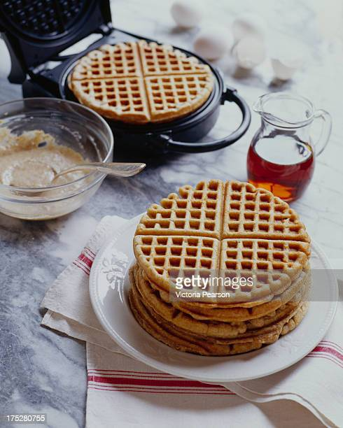 Five grain Waffles with Waffle Maker