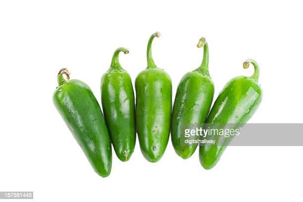 Cinco verde pimientos