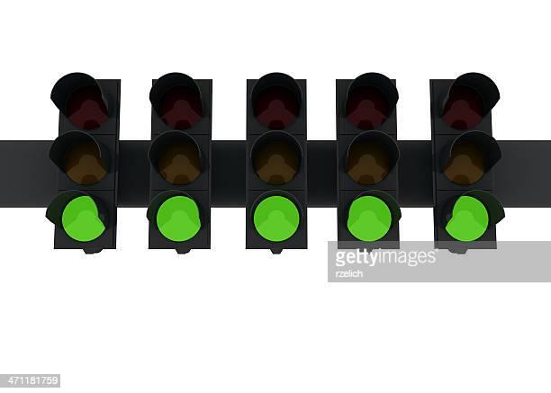 Five grüne Lichter