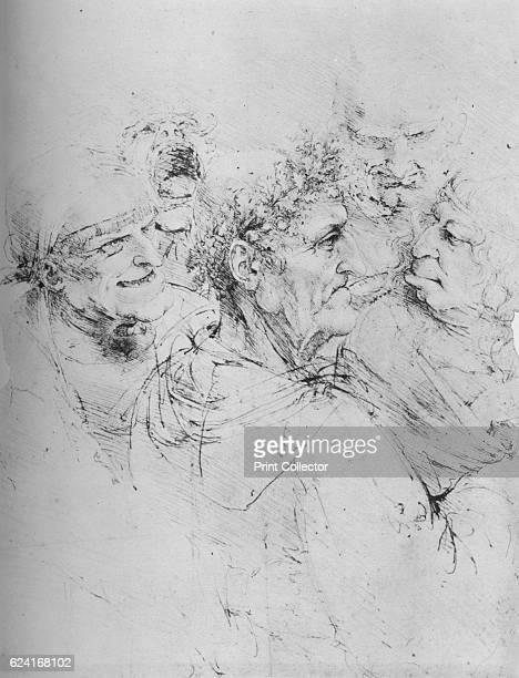 Five Grotesque Heads', c1480 . From The Drawings of Leonardo da Vinci. [Reynal & Hitchcock, New York, 1945]. Artist Leonardo da Vinci.