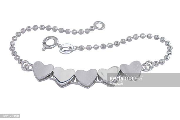 five heart bracelet - animal internal organ stock photos and pictures