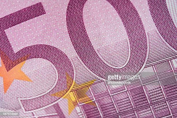 billete de quinientos euros macro - billete de banco de quinientos euros fotografías e imágenes de stock