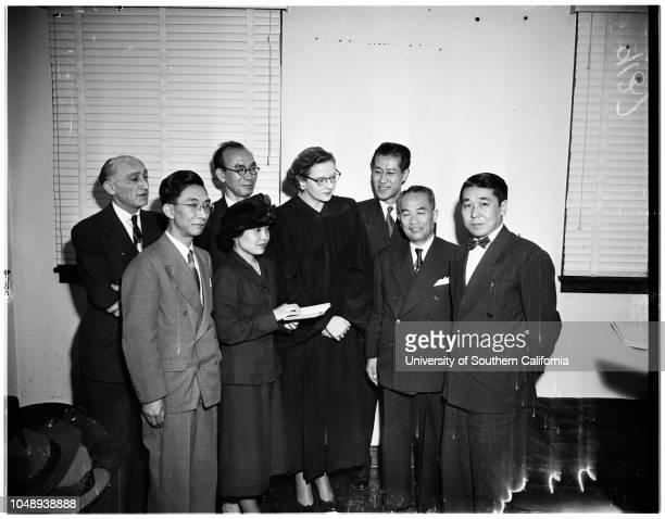 Five Judges of Japan's Supreme Court Secretarist April 11 1951 Judge Mildred L Lillie Abraham Black Chuichi SuzukiNorimasa YasakiToshimasa Kosek Aiko...
