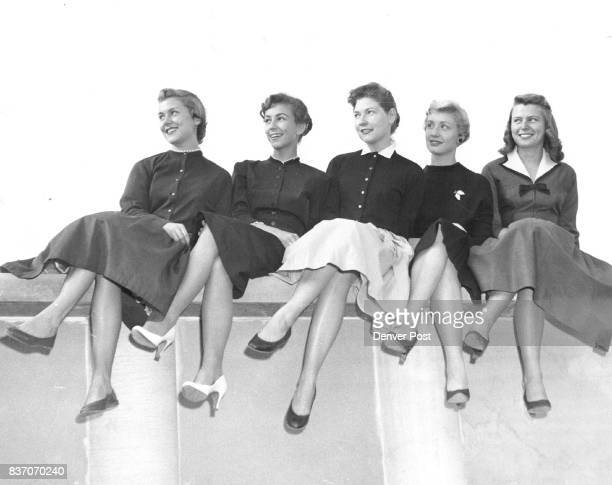 Five Little Buffaloes All in a Row The five finalists in the 'Miss CU' contest at the University of Colorado smile as they think about the fame and...