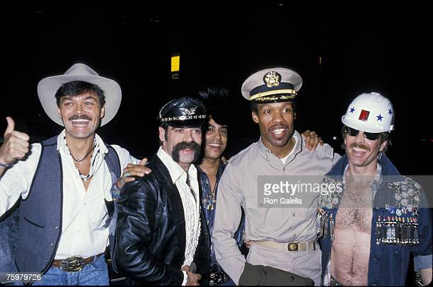 Five members of American disco group Village People