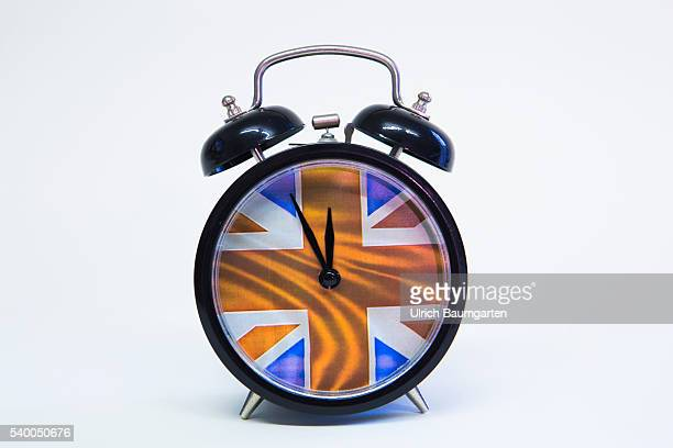 Five minutes to twelve Symbol photo on the subject proposed referendum on United Kingdom membership of the European Union The photo shows a alarm...