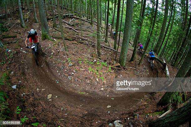 Five Mountain Bike Racers