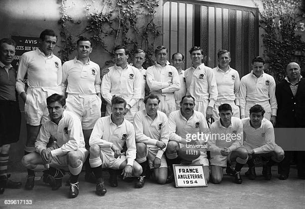 Five Nations Tournament France vs England England's team Back row KendalCarpenter Lewis Wilson Winn Young Gibbs Leadbetter Woodward and Quinn Front...