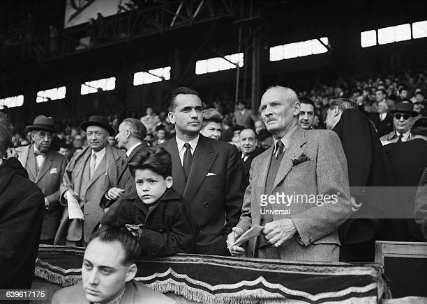 Five Nations Tournament France vs Ireland 116 Jacques ChabanDelmas who has resigned from the Defence Ministery attends to the match with his son and...