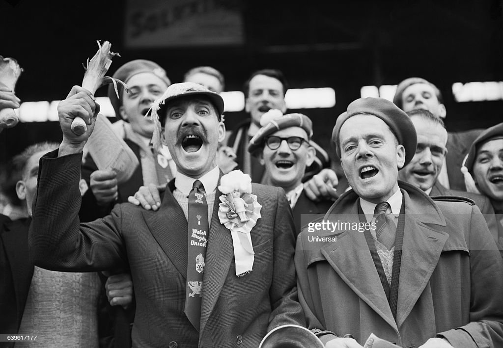 Rugby - France vs Wales 1957 : News Photo