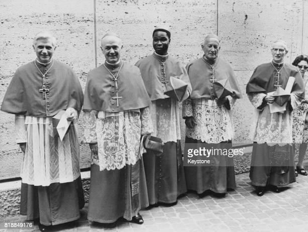 Five new cardinals created by the Pope at the Vatican 27th June 1977 From left to right they are Cardinal Joseph Ratzinger of Germany Cardinal...