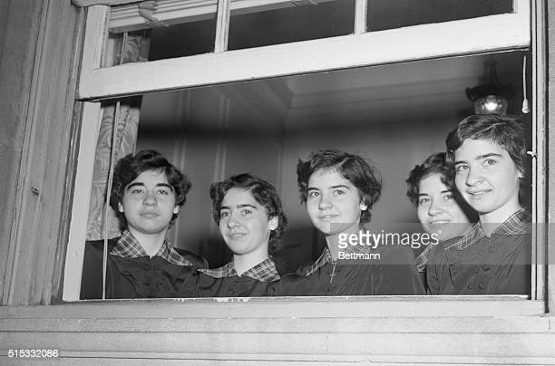 Five of a Kind Manhattan New York New York Looking out from a window of the St Patrick's Cathedral convent in New York where they are staying during...