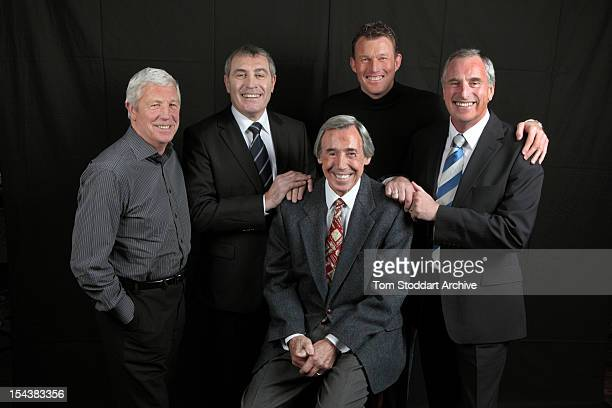 Five of England's greatest goalkeepers gathered together for the first time London January 2010 Left to right Jimmy Montgomery Peter Shilton Gordon...