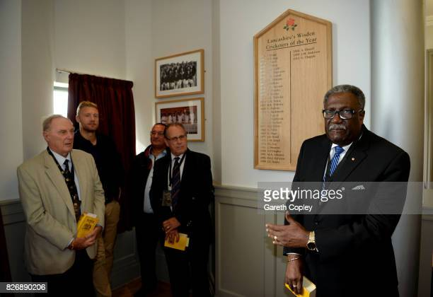 Five of Lancashire's Wisden Cricketers of the Year Ian Austin, Peter Lee, Jack Simmons, Andrew Flintoff and Clive Lloyd unveil a new honours board...
