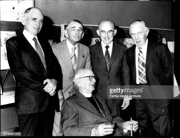 Five of the Fraser brothers at The Rev Canon Fraser's 'birthday are pictured From Left Hugh Fraser Harold Fraser John eraser and David Fraser with...
