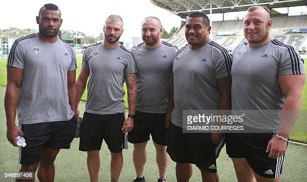 Five of the seven new players signed to French Top 14 rugby union team CA Brive Fijian wing Seremaia Burotu French fullback Benjamin Lapeyre Georgian...