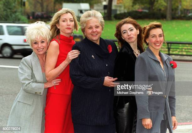 Five of the winners of the 40th annual Lunn Poly/RADAR People of the Year Award LR Eastenders actress Barbara Windsor disabled model Heather Mills...