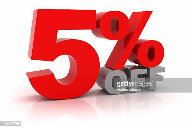 five percent off - percentage sign stock pictures, royalty-free photos & images