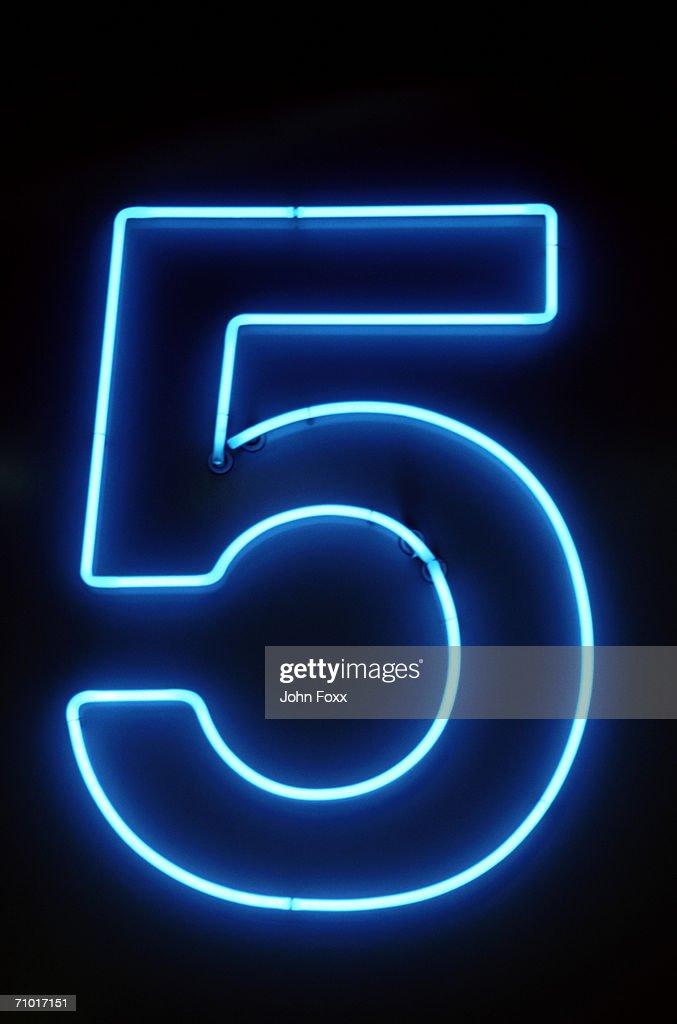 five : Stock Photo