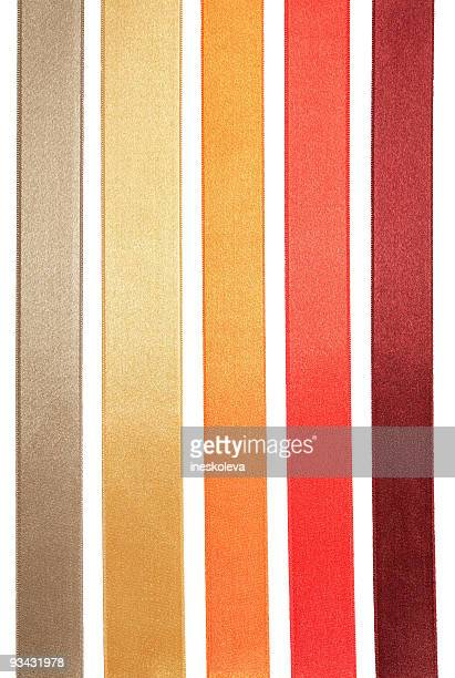 five ribbons - ribbon stock pictures, royalty-free photos & images