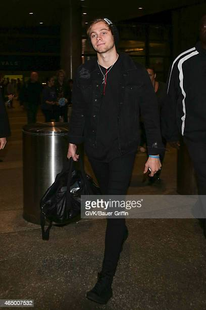 Five Seconds of Summer seen at LAX on March 02 2015 in Los Angeles California